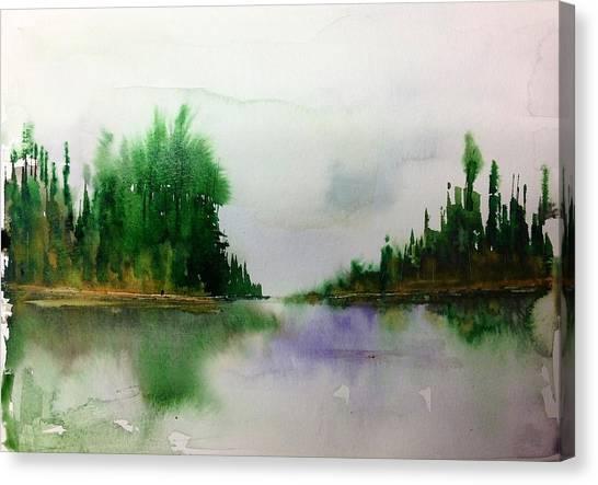 Northern Lake - Mellow Day Canvas Print