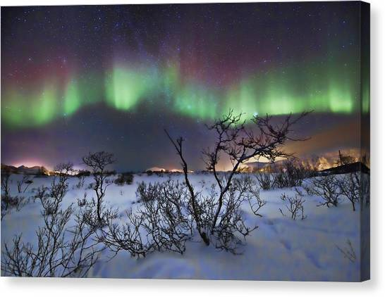 3.14 Canvas Print - Northern Lights - Creative Editing by Frank Olsen