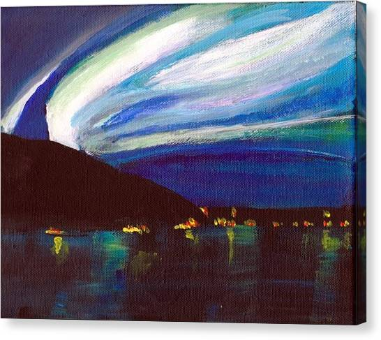 Northern Lights Bay Canvas Print