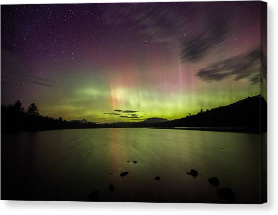 Northern Lights Over Ricker Pond Canvas Print
