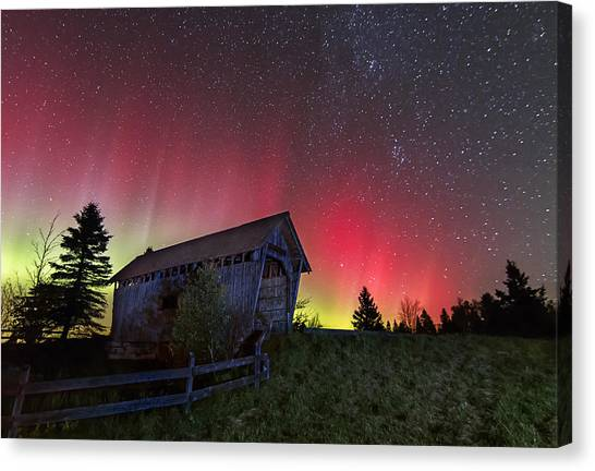 Northern Lights - Painted Sky Canvas Print