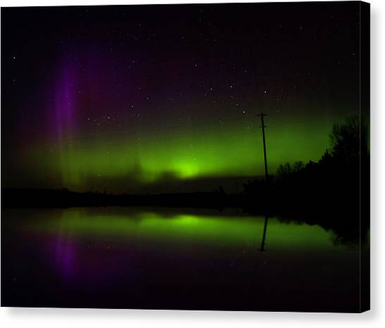 Aurora Borealis Canvas Print - Northern Lights Reflection by Billy Torma
