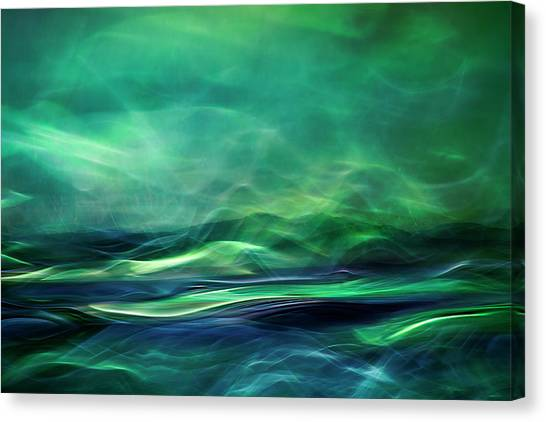 Aurora Borealis Canvas Print - Northern Lights by Willy Marthinussen