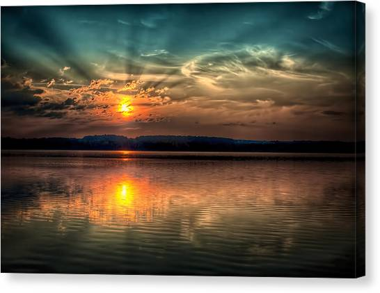 Northern Maine Sunrise Canvas Print by Gary Smith