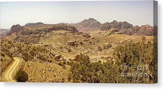 Arabian Desert Canvas Print - Northern Route To Petra by Neil Pollick