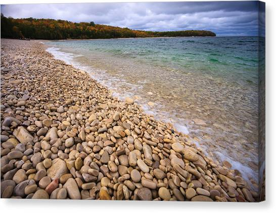 Lake Michigan Canvas Print - Northern Shores by Adam Romanowicz