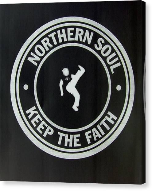 Northern Soul Dancer Inverted Canvas Print