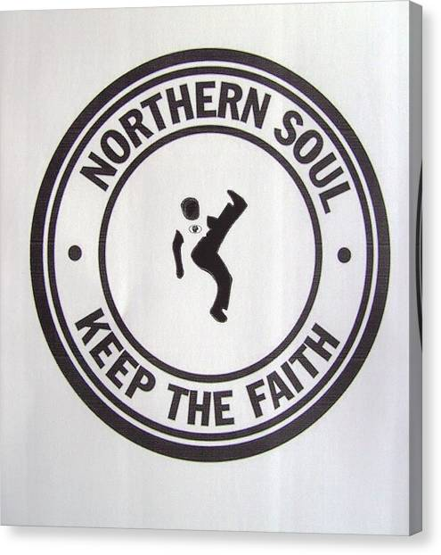Northern Soul Dancer Canvas Print