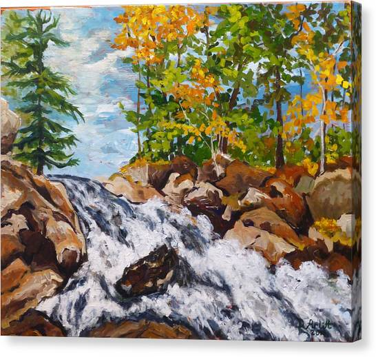 Northern Waterfall Canvas Print