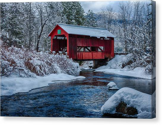 Northfield Vermont Covered Bridge Canvas Print