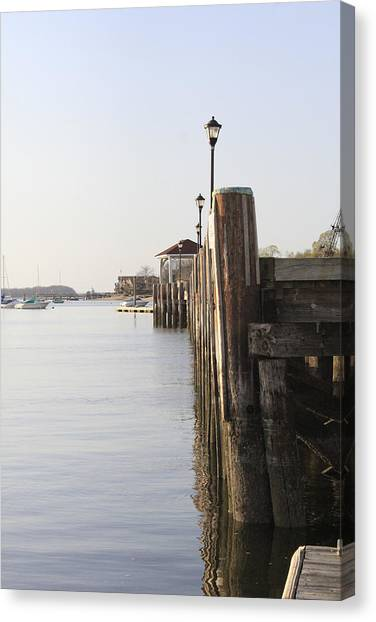 Northport Dock A Different Perspective Canvas Print