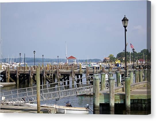 Northport Dock Long Island New York Canvas Print