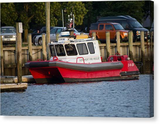 Northport Fire Boat Long Island New York Canvas Print