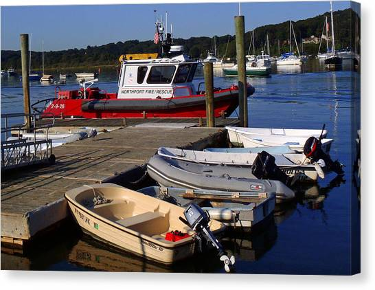 Northport Fire Boat Canvas Print