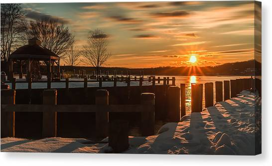 Northport New York Winter Sunset Canvas Print