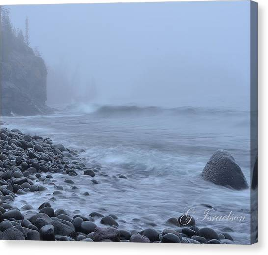 Northshore Fog And Waves Canvas Print