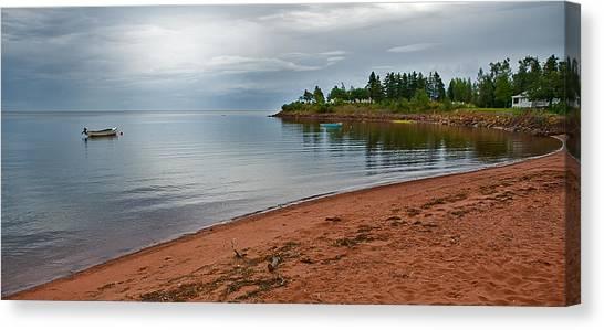 Northumberland Shore Nova Scotia Red Sand Beach Canvas Print