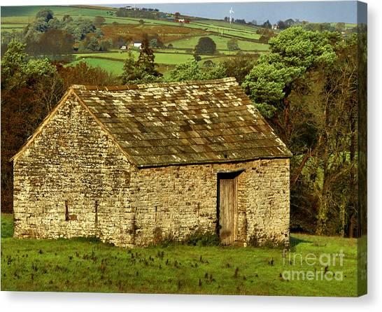 Northumberland Stone Barn Canvas Print