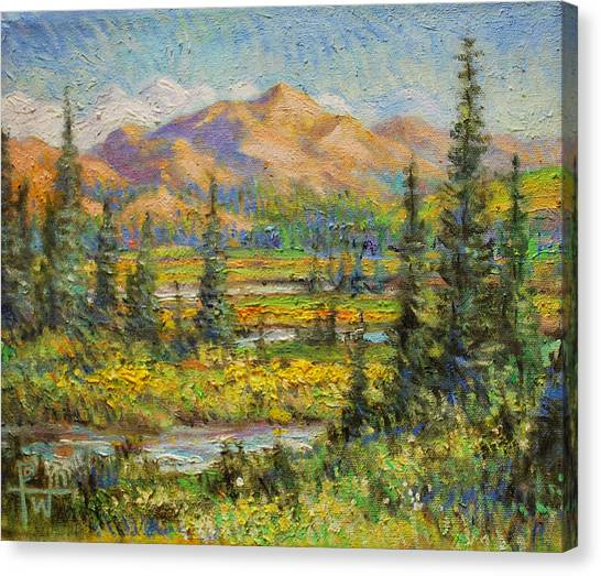 Northwest In The Rockies Canvas Print by Henry Potwin