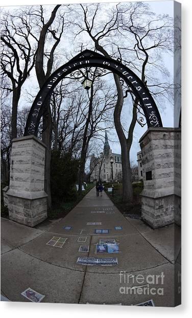 Northwestern University Canvas Print - Northwestern University by David Bearden