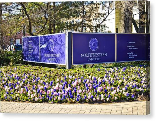 Northwestern University Canvas Print - Northwestern University Entrance by Marisa Geraghty Photography