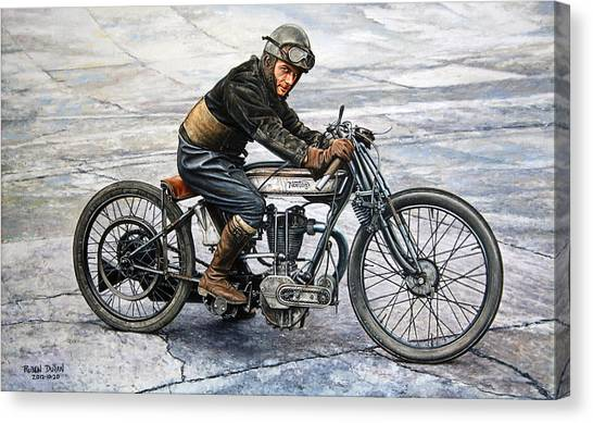 Motorcycle Canvas Print - Norton Rider by Ruben Duran