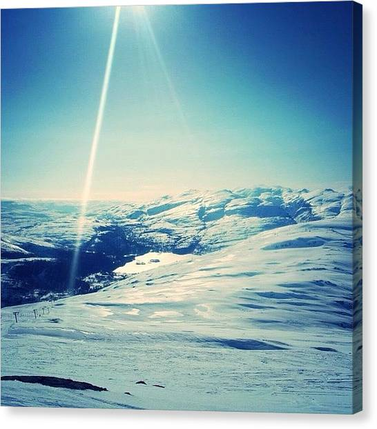 Snowboarding Canvas Print - #norway #eikedalen#mountain by Bjorn Magnus Worakit Kronen