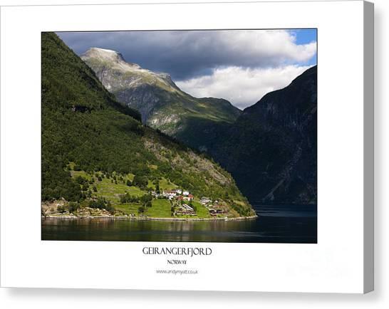 Norway Geiranger Geirangerfjord Fjord Canvas Print