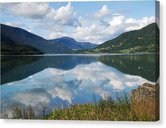 Norwegian Fjord Reflections Canvas Print