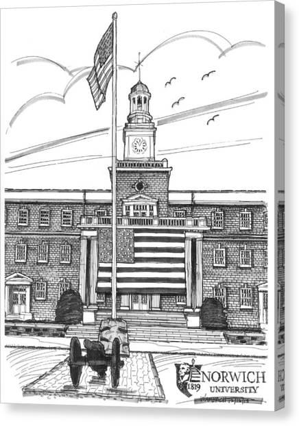 Norwich University Jackman Hall Canvas Print