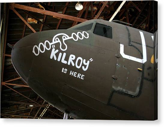 Nose Art Kilroy Was Here Canvas Print
