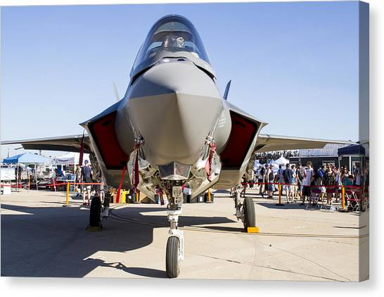 Nose To Nose With An F-35 Canvas Print