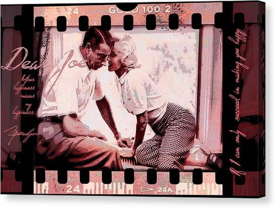 Nostalgia Joe Dimaggio And Marilyn Monroe Your Happiness Means My Happiness Canvas Print