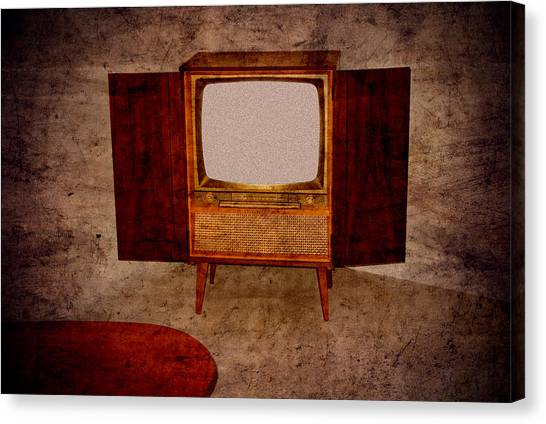 Nostalgia - Old Tv Set Canvas Print