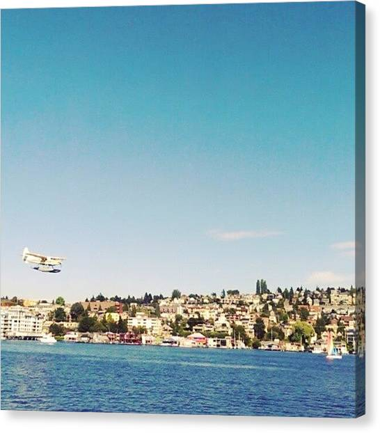 Seaplanes Canvas Print - Not A Bad Way To Kick Off The Weekend! by Seth Yates
