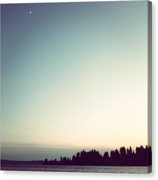 Lake Sunsets Canvas Print - Not A Cloud In The Sky .. Rare Around by Terrence Jeffrey Santos
