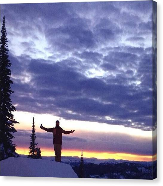 Snowboarding Canvas Print - Not All Who Wander Are Lost #like by Jaylynn Molnar