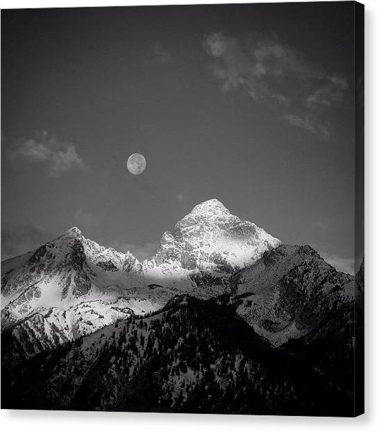 Tetons Canvas Print - Not As Dramatic But Always Impressive by David Wells