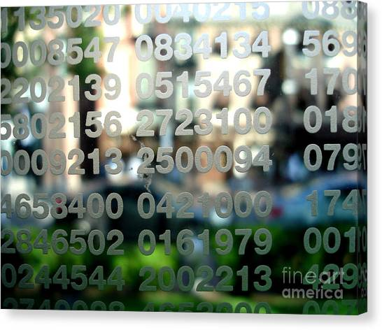 Not Just Numbers Canvas Print