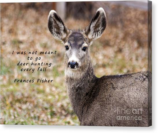 Forbidden Planet Canvas Print - Not Meant To Deer Hunt by Janice Rae Pariza