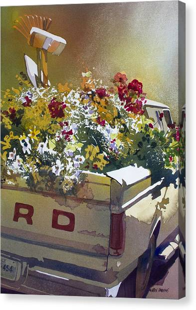 Ford Truck Canvas Print - Not Ready To Go by Kris Parins