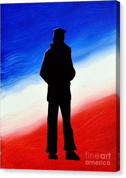 Not Self But Country Canvas Print