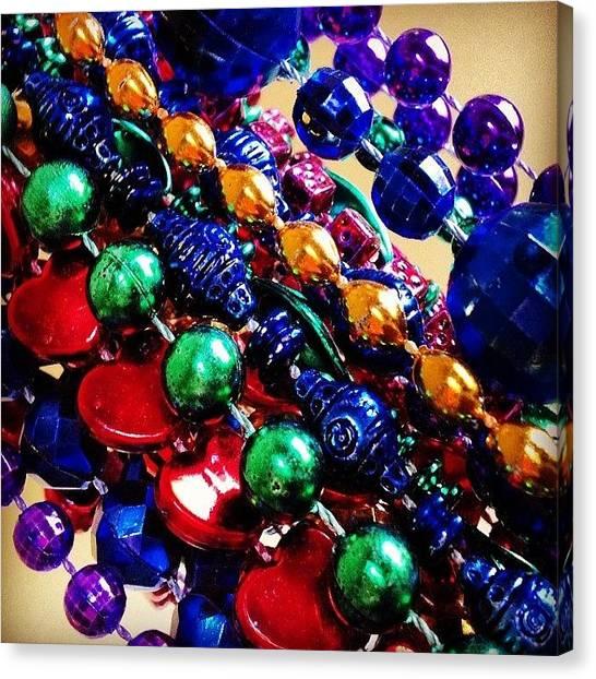 Mardi Gras Canvas Print - Mardi Beads by Rosie Lackey