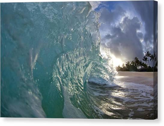 Ocean Sunrises Canvas Print - Coconut Curl by Sean Davey