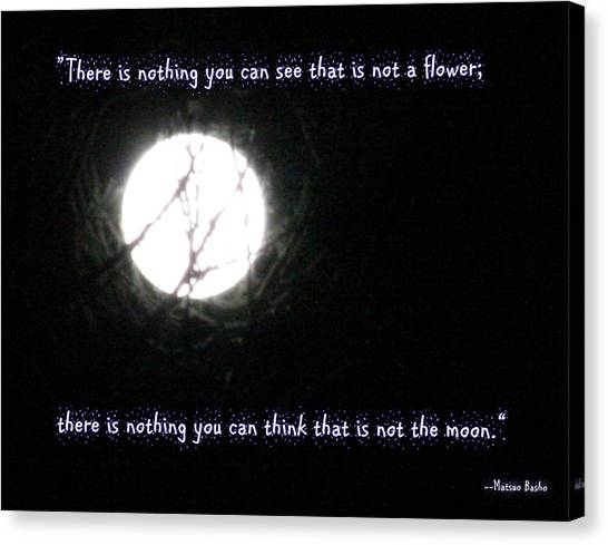 Nothing But The Moon Canvas Print
