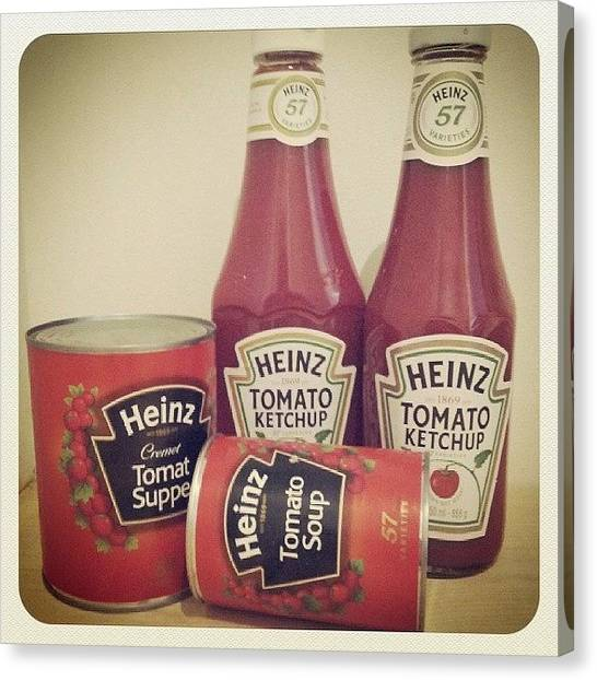 Ketchup Canvas Print - Nothing Is Better Than Heinz. #heinz by Lotte Corvinius
