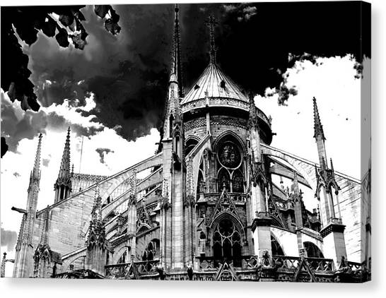 Notre Dam Revealed By Denise Dube Canvas Print