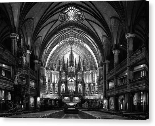 Church Canvas Print - Notre-dame Basilica Of Montreal by C.s. Tjandra