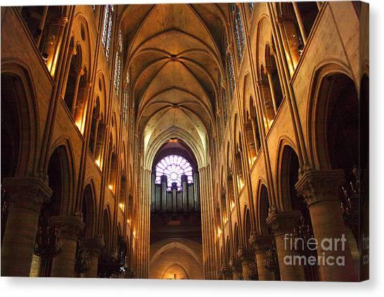 Notre Dame Ceiling Canvas Print