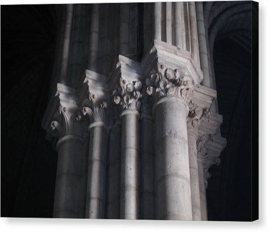 Notre Dame Column Capital Canvas Print by Stephanie Hunter